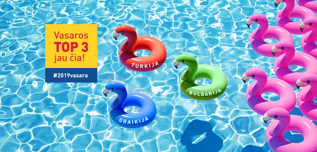 VASAROS TOP 3 atostogų šalys - TURKIJA, BULGARIJA, GRAIKIJA