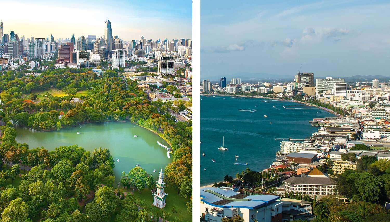 Kombineeritud pakett Bangkok(3 ööd)-Pattaya(ülejäänud ööd) (Bangkok, Tai)