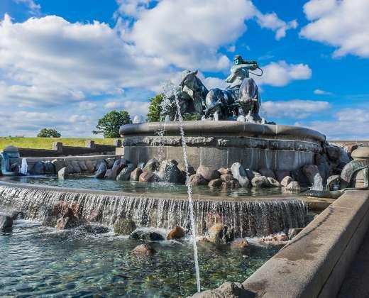 Danija. Kopenhaga. Gefionos fontanas