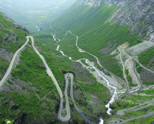 Norvegija. Trolstigeno kelias