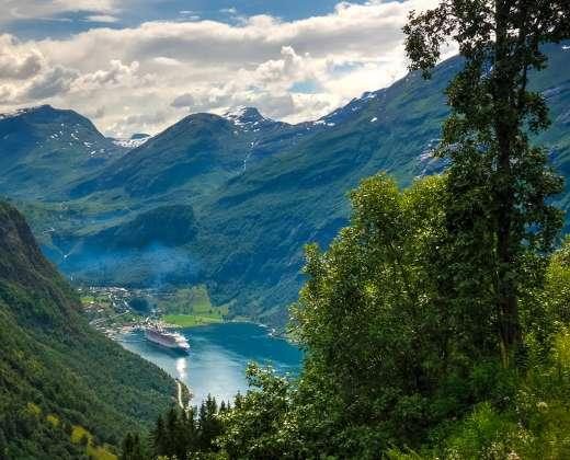 Norvegija. Geirangerio kaimelis