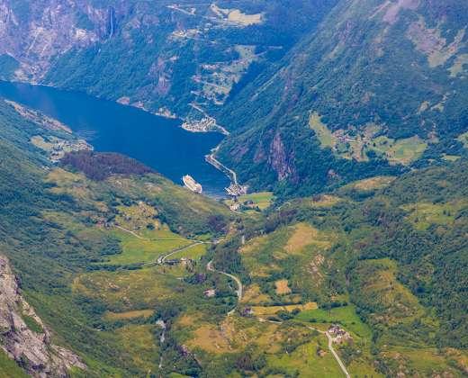 Norvegija. Vaizdas iš Dalsnibos apžvalgos aikštelės