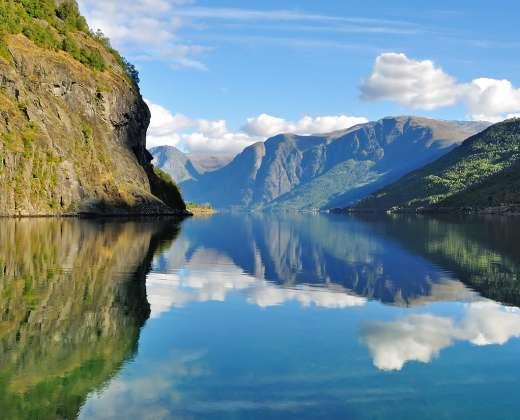 Norvegija. Flam fiordas
