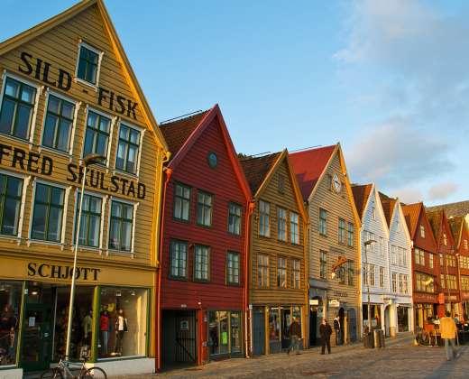 Norvegija. Bergeno senamiestis