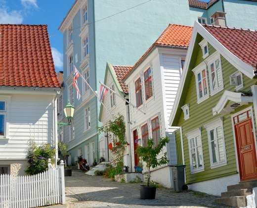 Norvegija. Bergenas. Pirklių rajonas