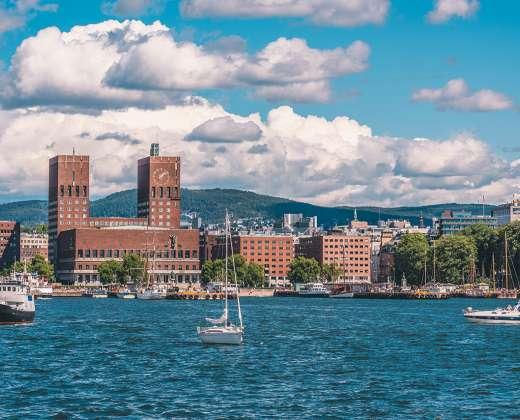 Norvegija. Oslo Rotušė