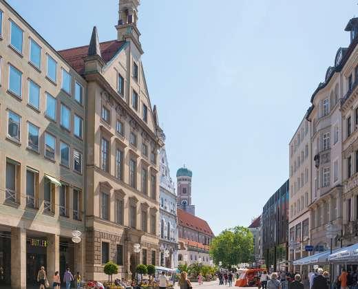 Vokietija. Miunchenas. Neuhauserstrasse gatvė