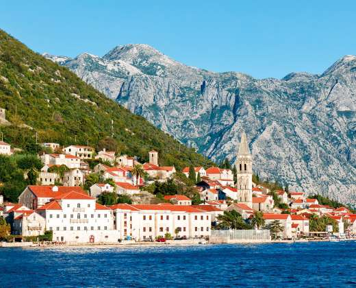 Juodkalnija. Perasto miestelis
