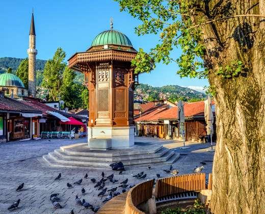 Bosnija ir Hercogovina. Sarajevas. Turgavietė