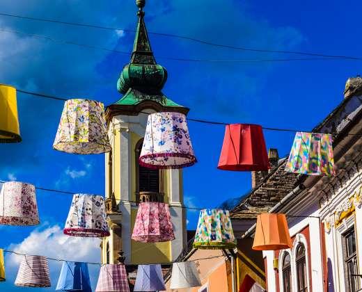 Vengrija. Sentendrės miestelis