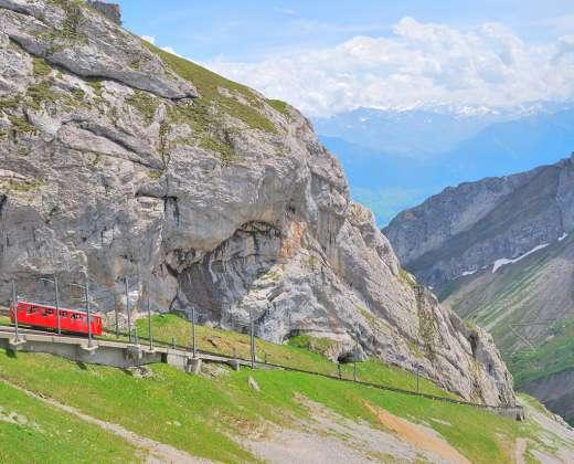 Šveicarija. Pilatus viršukalnė.