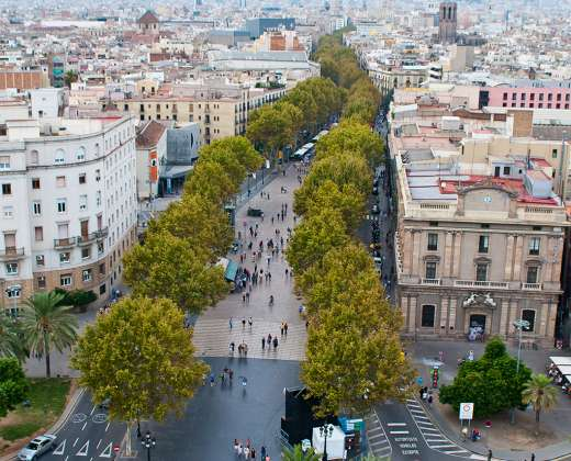 Ispanija. Barselona. Las Ramblas gatvė.