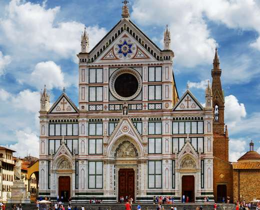 Italija, Florencija. Santa Croce bazilika