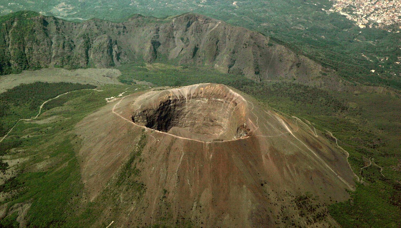 Italija. Vezuvijaus krateris