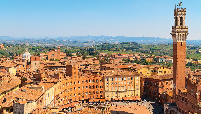 Italija, Siena. Piazza del Campo