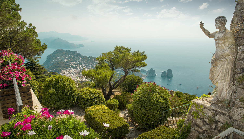Italija. Kaprio sala nuo Saulės kalno