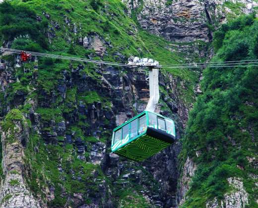 Šveicarija. Keltuvas į Santis viršukalnę