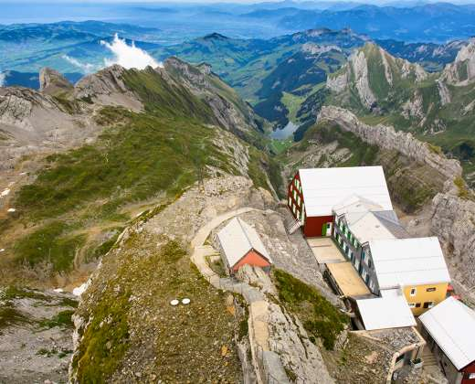 Šveicarija. Panorama nuo Santis viršukalnės