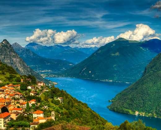 Šveicarija. Lugano ežeras