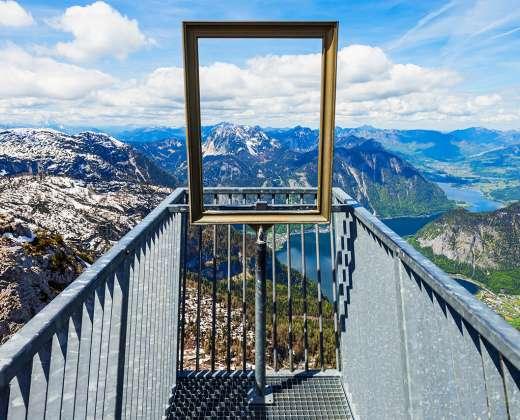 Austrija. Dachšteino kalnai. 5 pirštų platforma