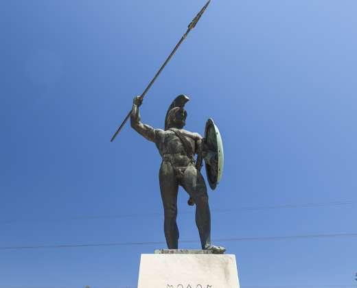 Graikija. Termopilai. Leonido skulptūra