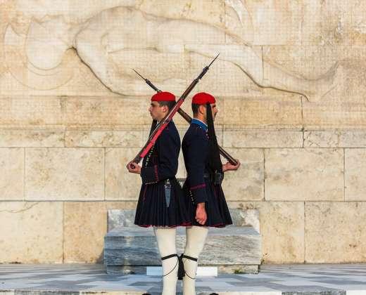 Atėnai. Gvardiečių garbės sargyba