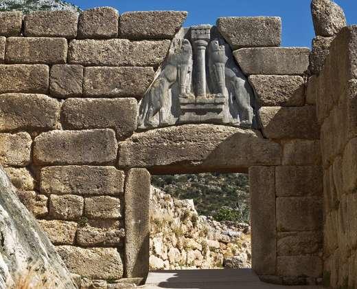 Graikija. Mikėnai. Liūtų vartai