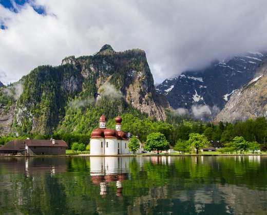 Vokietija. Berchtesgadenas. Karalių ežeras