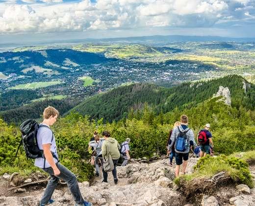 Lenkija. Tatrų kalnų panorama