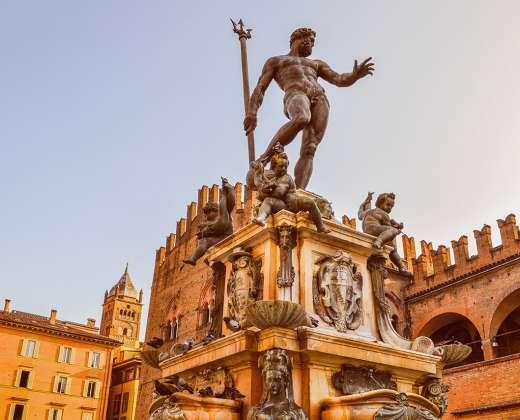 Italija. Bolonija. Neptūno fontanas