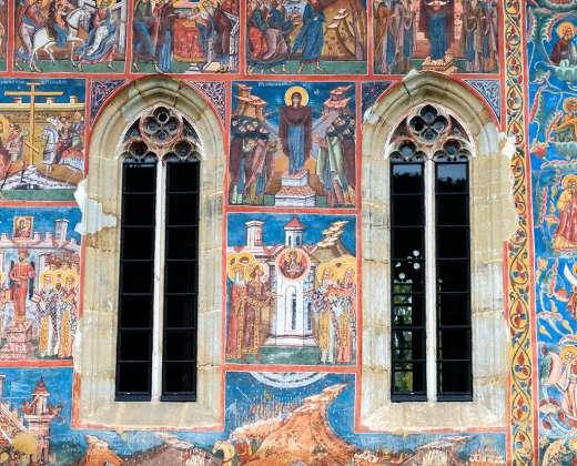 "Rumunija. Freska ""Konstantinopolio apgultis"""