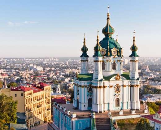 Ukraina. Kijevas. Šv. Andrejaus cerkvė