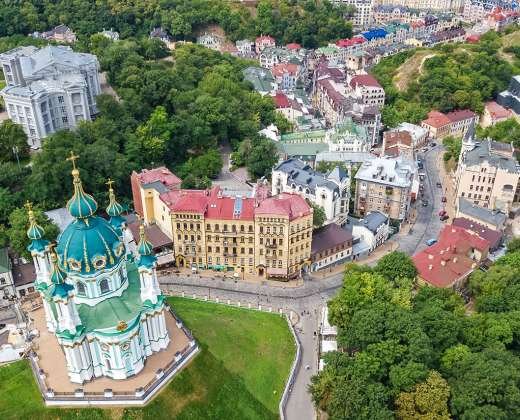 Ukraina. Kijevas. Kresčiatik gatvė