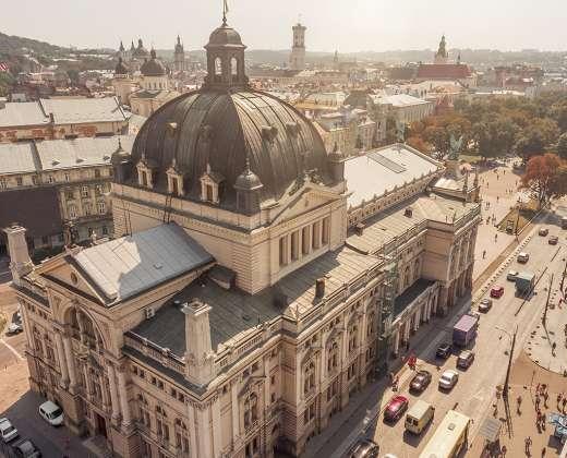 Ukraina. Lvovas. Operos ir baleto teatras