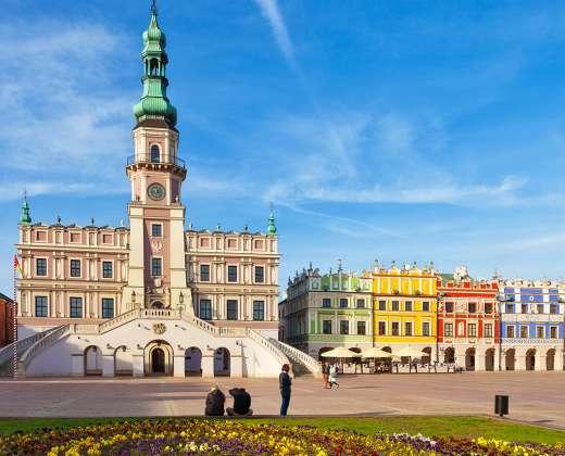 Lenkija. Zamostė. Turgaus aikštė
