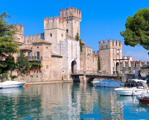 Italija. Sirmionės kurortas. Rocca Scaligera pilis
