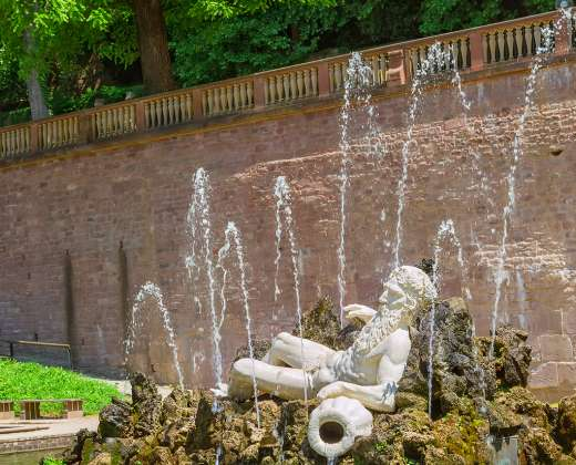 Heidelbergas. Neptūno fontanas