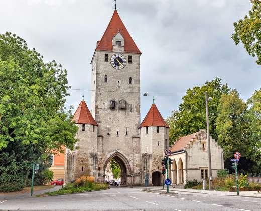 Vokietija. Rėgensburgas. Viduramžių miesto vartai