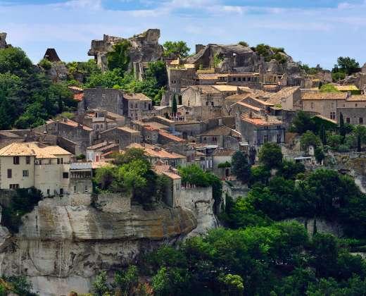 Prancūzija. Baux-de-Provence miestelis