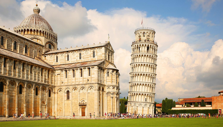 Italija. Pizos svyrantis bokštas
