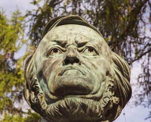 Vokietija. Bairoitas. Richardo Vagnerio skulptūra
