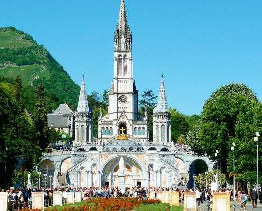 Prancūzija. Lurdas.  Nekalto prasidėjimo bazilika