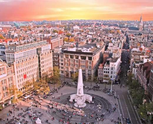 Olandija. Amsterdamas. Dam aikštė