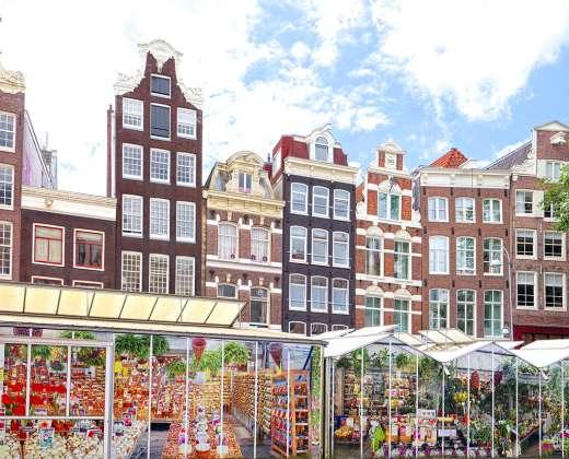 Olandija. Amsterdamas. Singel kanalas