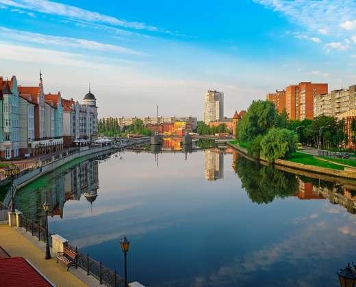 Kaliningradas. Prieglaius upė