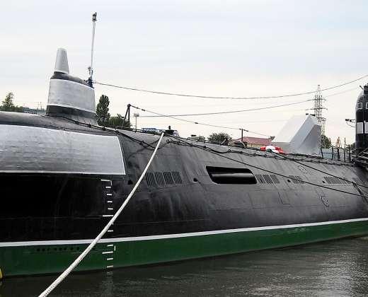 Kaliningradas.  Pasaulio vandenynų muziejus. Povandeninis laivas