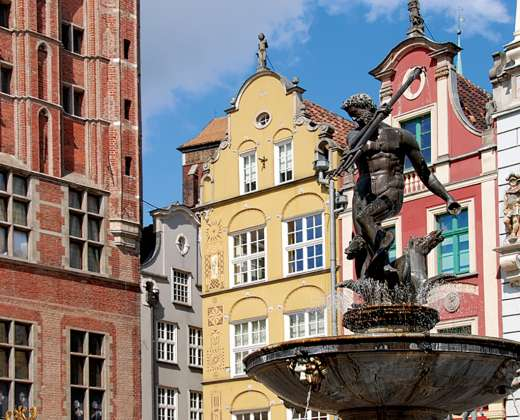 Lenkija. Gdanskas. Neptūno fontanas.