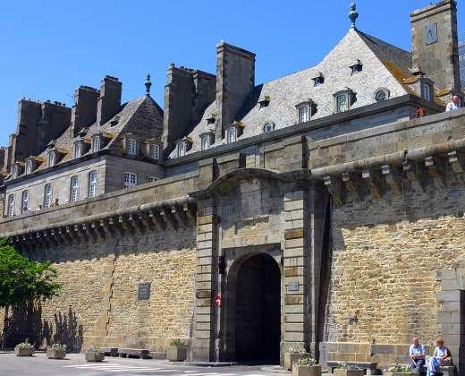 Prancūzija. Sen Malo miesto-tvirtovės sienos