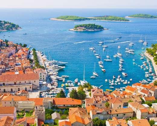 Kroatija. Hvaro sala