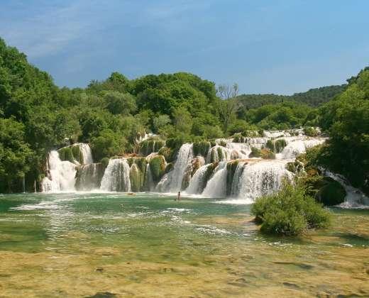 Kroatija. Krka krioklių nacionalinis parkas